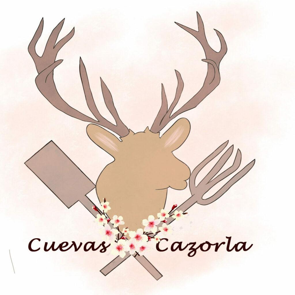 Imagen de un ciervo de la Sierra de Cazorla. Logo de Cuevas Cazorla.